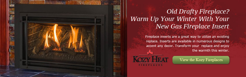 Warm Up Your Winter With Your New Gas Fireplace Insert from Kozy Heat
